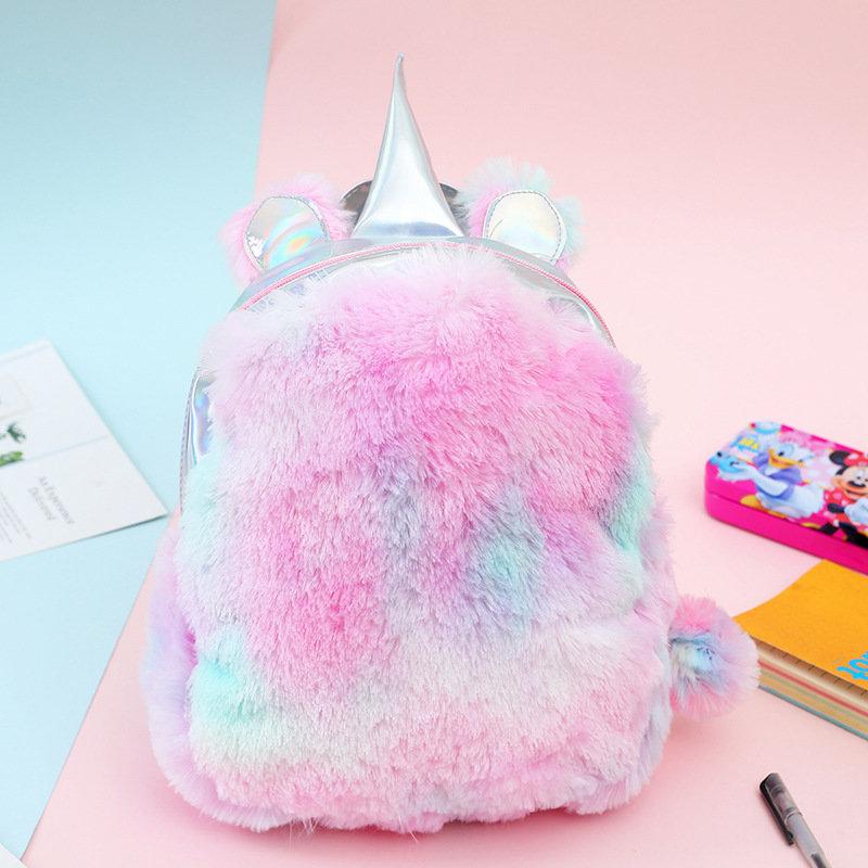 Osgoodway2 China Bag Girls Plush Pink Travel Backpack Kids Cute Unicorn School Bags Charm Unicorn Backpack