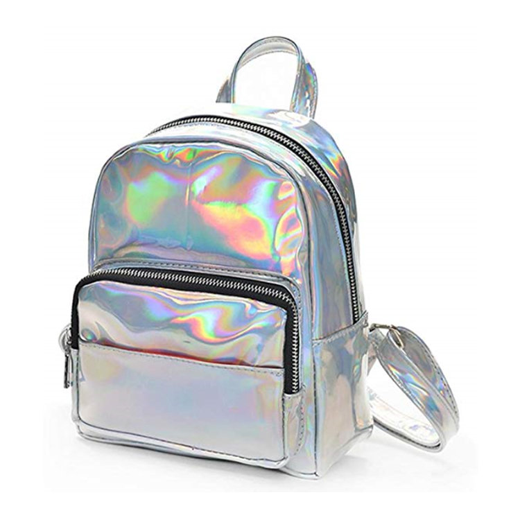 Osgoodway2 Fashion Wholesale Small Backpacks for Women Holographic Leather Backpack For Girls