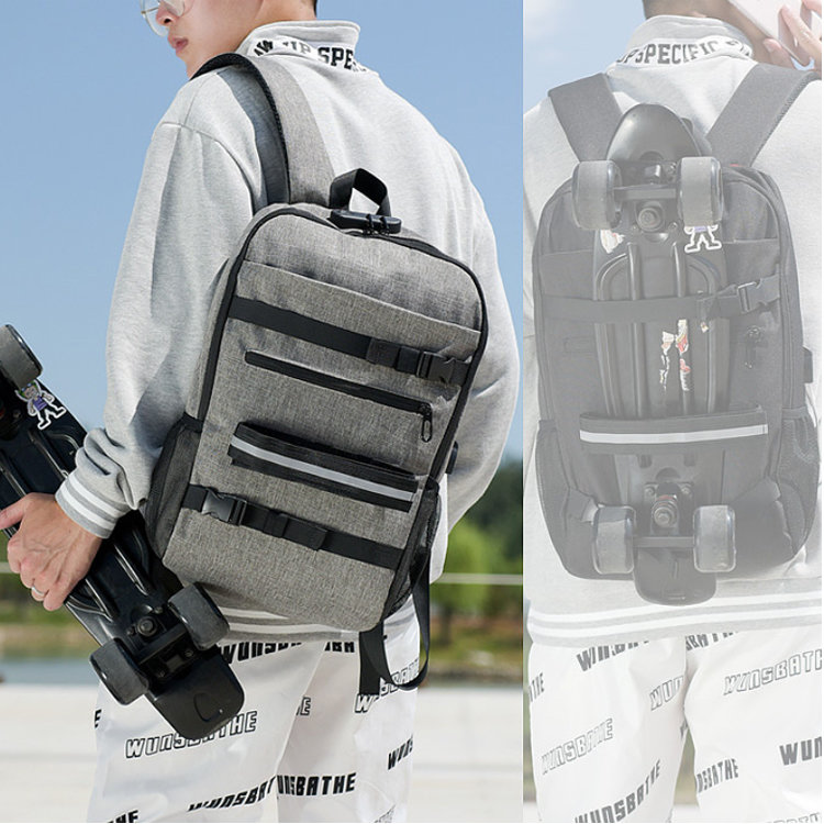 product-Osgoodway-Osgoodway Multi Functional Anti Theft USB Sports Skateboard Backpack Bag with Lapt