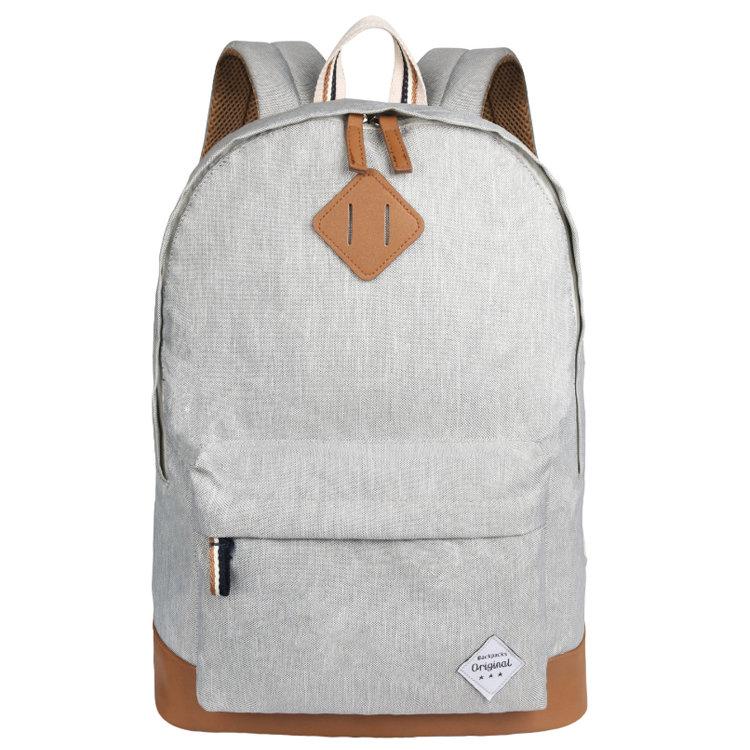 Osgoodway Low MOQ Custom Logo Bagpack Polyester Vintage High School Rucksack Backpack for Girls