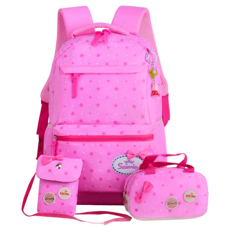 Osgoodway2 Pink 3 in 1 School Bags 2019 New Arrivals Teens Backpack School Bags Set