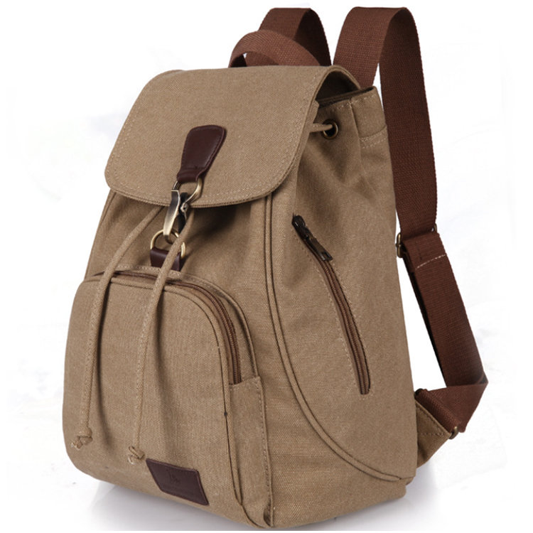 Osgoodway2 Factory Price Drawstring Travel Rucksack CanvasWomen Backpack School Bag For Girls