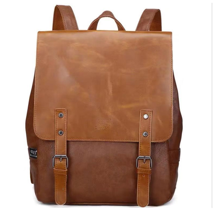 Osgoodway2 Unisex Personalized Fashion Student Bag New Unique High-grade Men Women Pu Leather Backpack