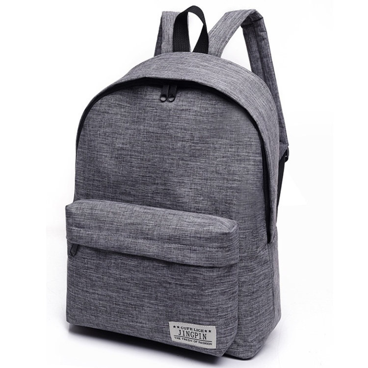 Osgoodway New Trendy Simple Student School Bag Mini Canvas Backpack Couple Bag