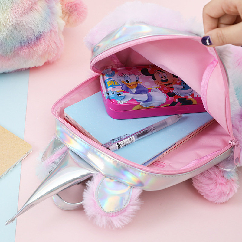 product-Osgoodway2 China Bag Girls Plush Pink Travel Backpack Kids Cute Unicorn School Bags Charm Un-1