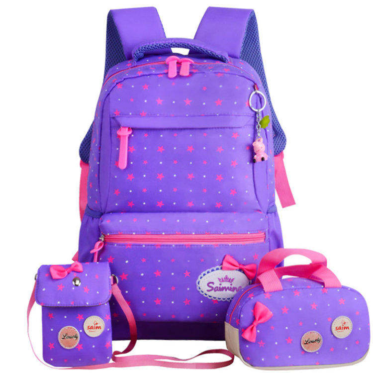 product-Osgoodway2 2019 New Arrivals 3 in 1 Navy Blue Teens Backpack School Bags Set-Osgoodway-img-1