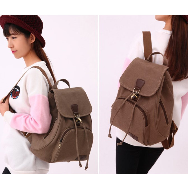 product-Osgoodway2 Factory Price Drawstring Travel Rucksack CanvasWomen Backpack School Bag For Girl-1