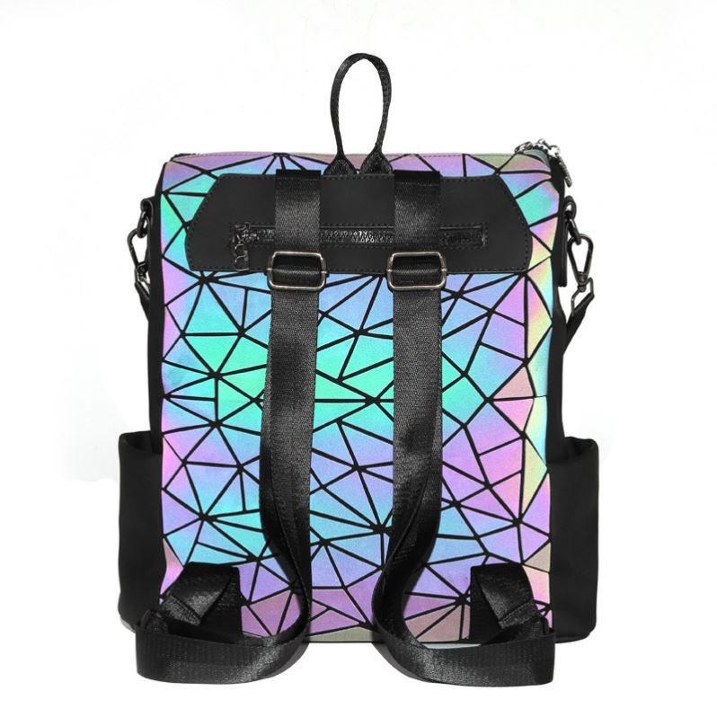 product-Osgoodway-Osgoodway2 Geometric Holographic Luminous Sex Girls School Bag Color Changing Wome