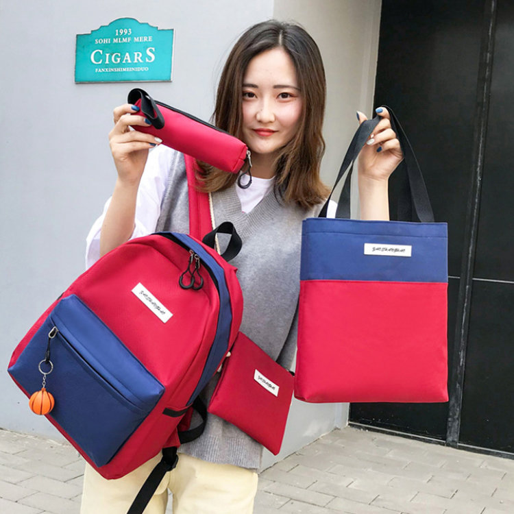 product-Osgoodway2 Colorful School Backpack Custom 5 pieces Girls College School Bag Backpack Set-Os-1