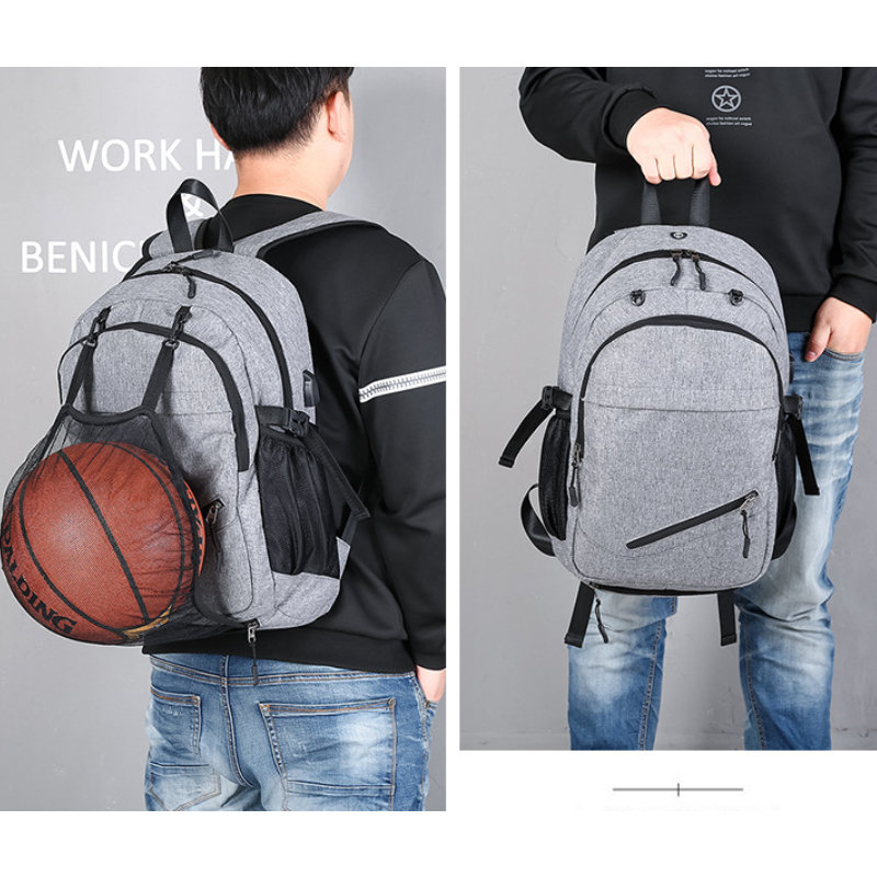 product-Osgoodway Amazon Hot Selling Men Bags Laptop Charging Backpack with Basketball Net-Osgoodway-1