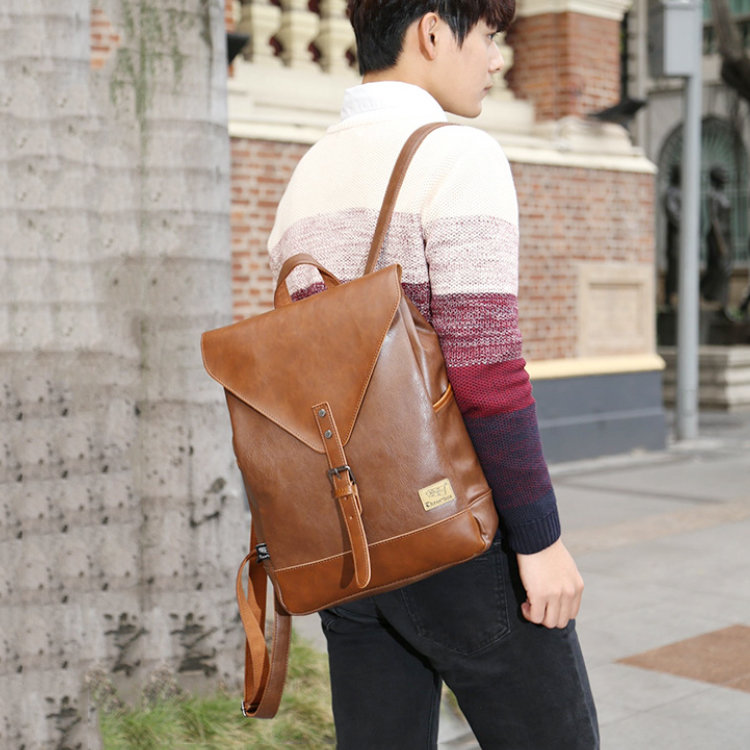 product-Osgoodway 2020 Hot Men and Women High Quality PU leather Business Backpack School Bag with L-1