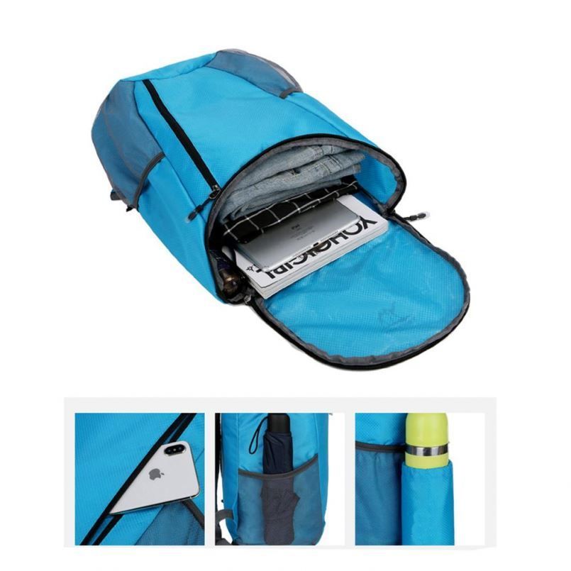 product-Osgoodway-Osgoodway Custom Logo Lightweight Waterproof Nylon Foldable Travelling Backpack Ba