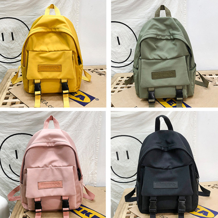 product-Osgoodway-Osgoodway2 New Casual Women Backpack Solid Color Girls College Backpack Book Bags