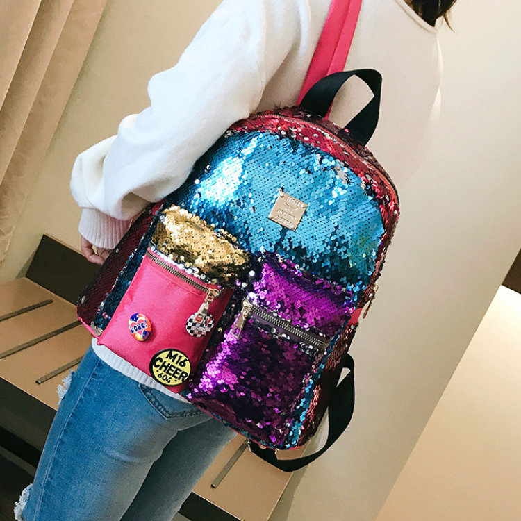 product-Osgoodway2 2019 New Design Magic Flip Reversible Sequin Backpack for Girls Glitter Mermaid S-1