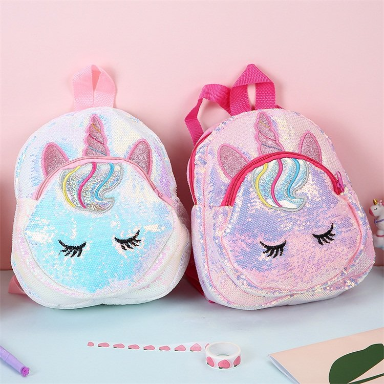 Osgoodway2 cute cartoon kindergarten small schoolbag sequin toddler backpack for kids