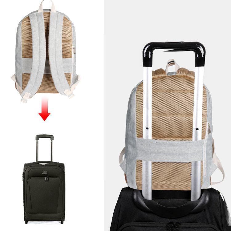product-Osgoodway Low MOQ Custom Logo Bagpack Polyester Vintage High School Rucksack Backpack for Gi-1