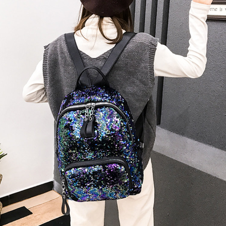 product-Osgoodway-Osgoodway2 Women Colorful Glitter Shining Sequin School Backpack Bag Fashion Trave