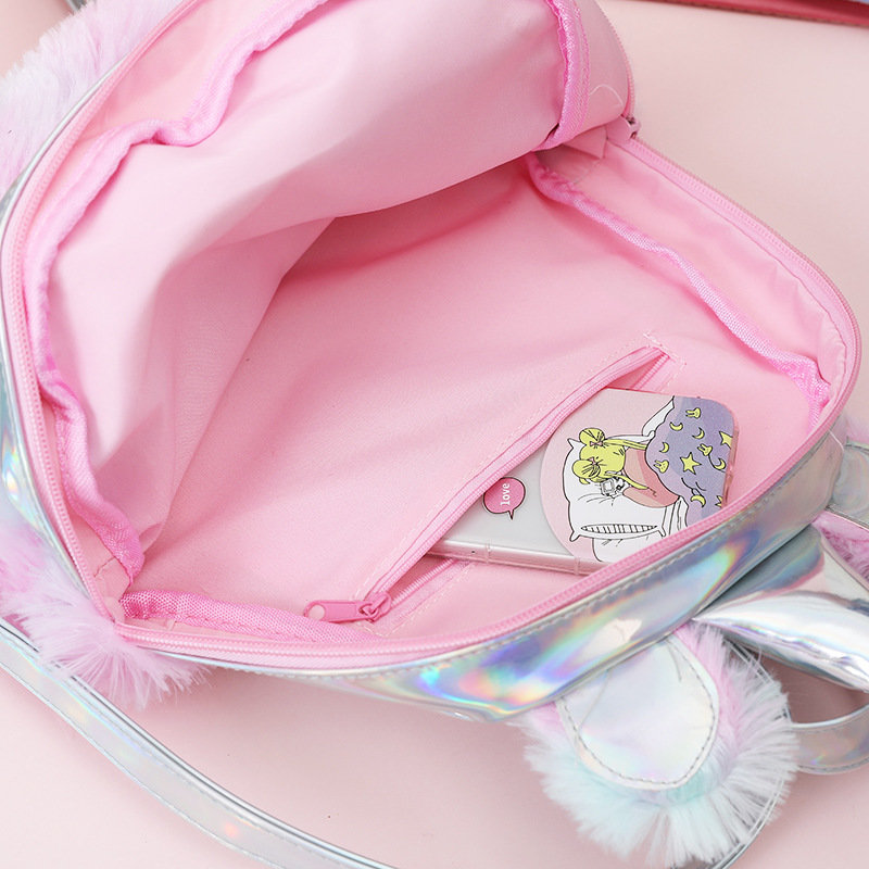 product-Osgoodway-Osgoodway2 China Bag Girls Plush Pink Travel Backpack Kids Cute Unicorn School Bag