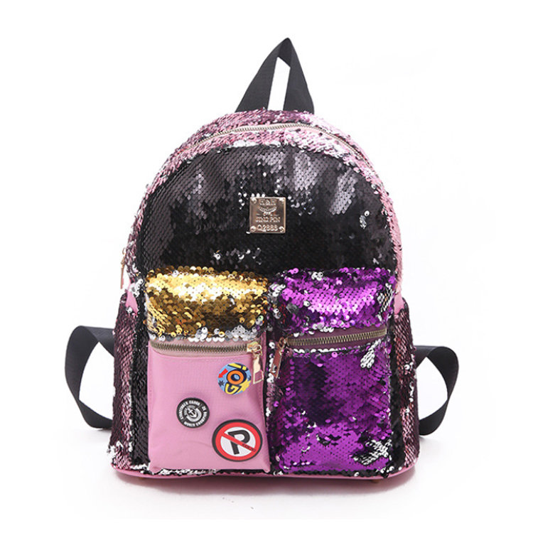 product-Osgoodway-Osgoodway2 2019 New Design Magic Flip Reversible Sequin Backpack for Girls Glitter