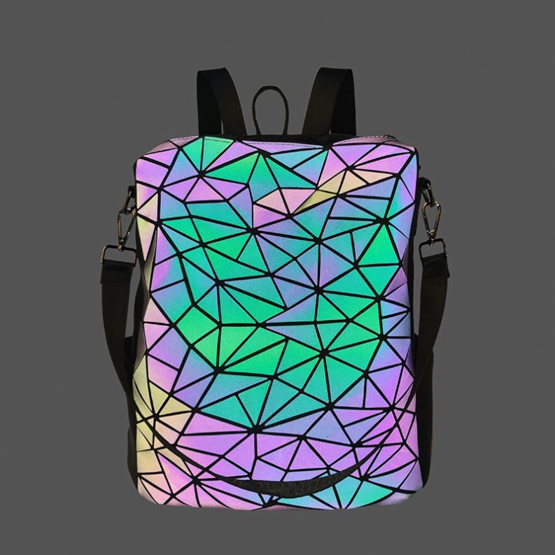 product-Osgoodway2 Geometric Holographic Luminous Sex Girls School Bag Color Changing Women Designer-1