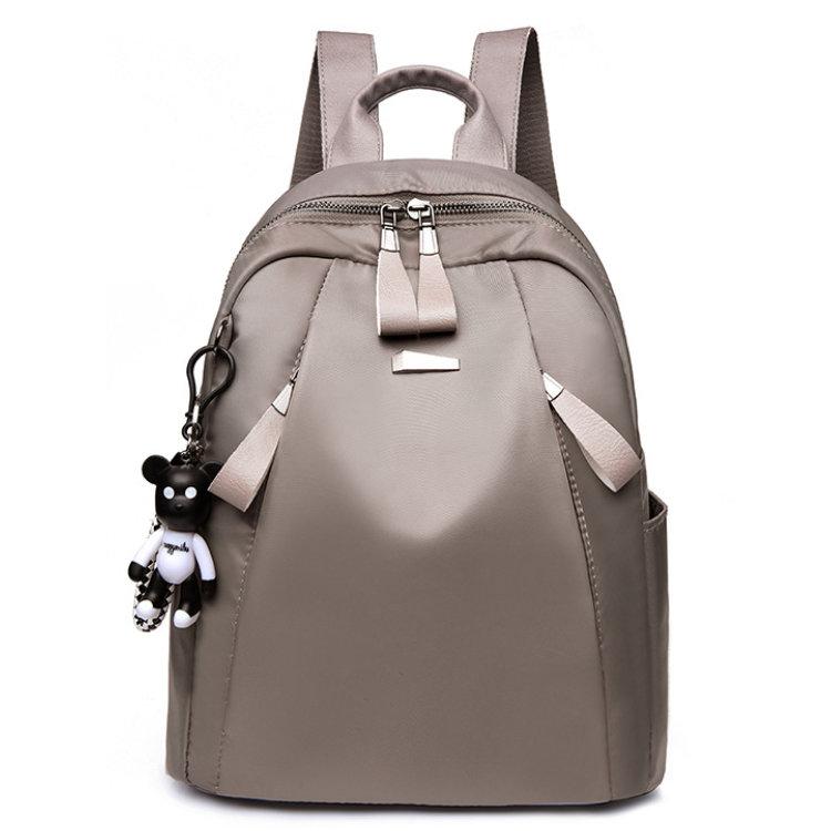 Osgoodway2 Khaki Black Waterproof Oxford Fashion Casual Ladies School Backpack Bag for Teenage Girls
