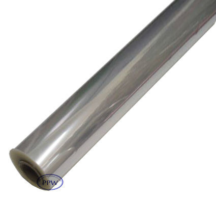 Transparent cellophane film roll and clear cellophane