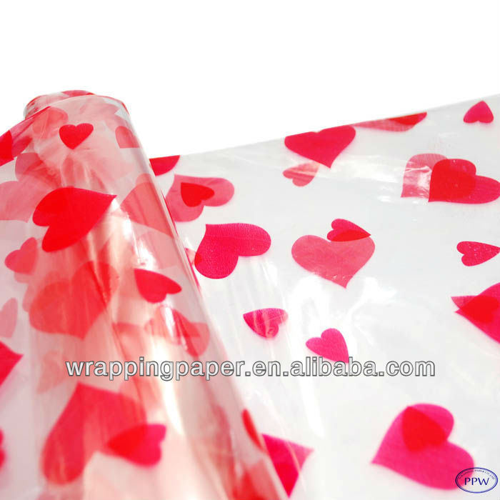 Printed cellophane sheets paper wrapping cellophane