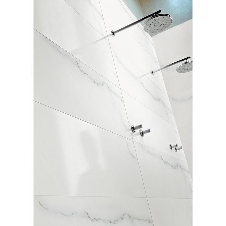 Ivory colored bathroom porcelain tiles