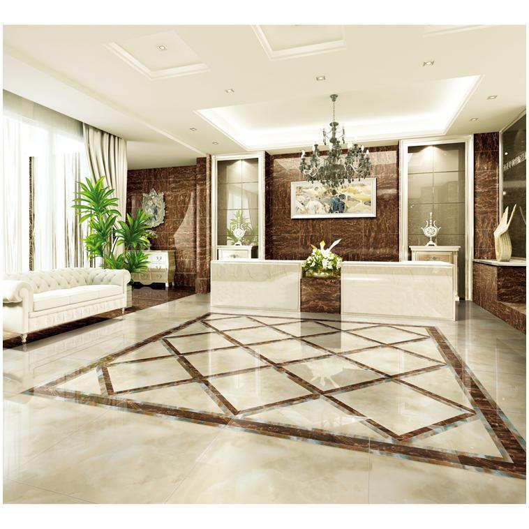 Waterjet marble tiles design floor pattern