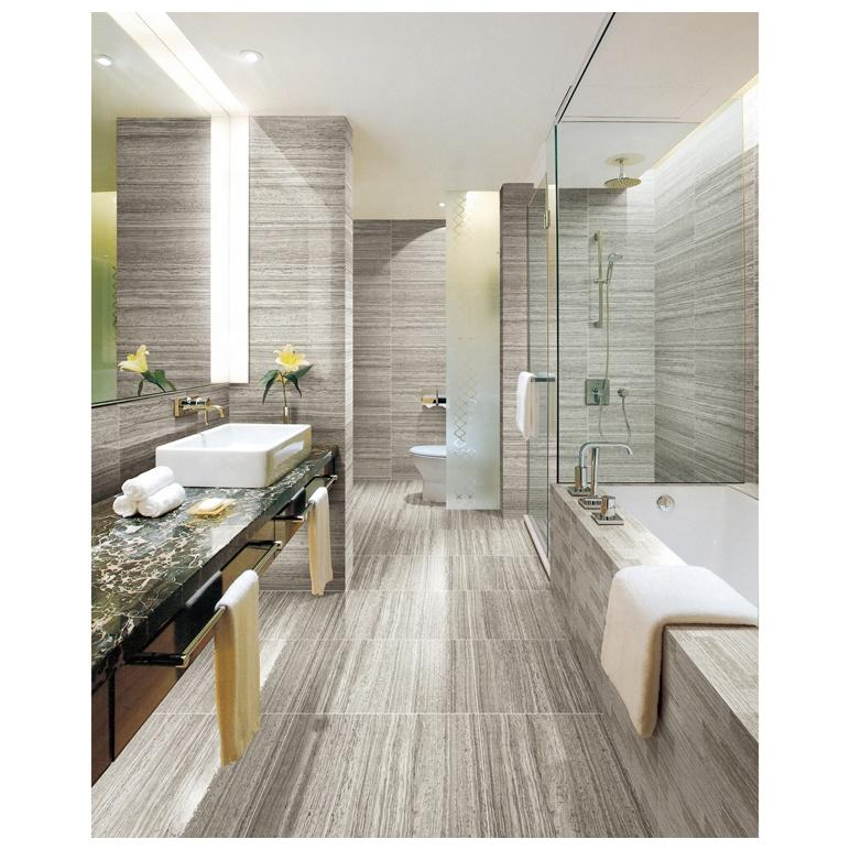 Gray glazed porcelain floor tile