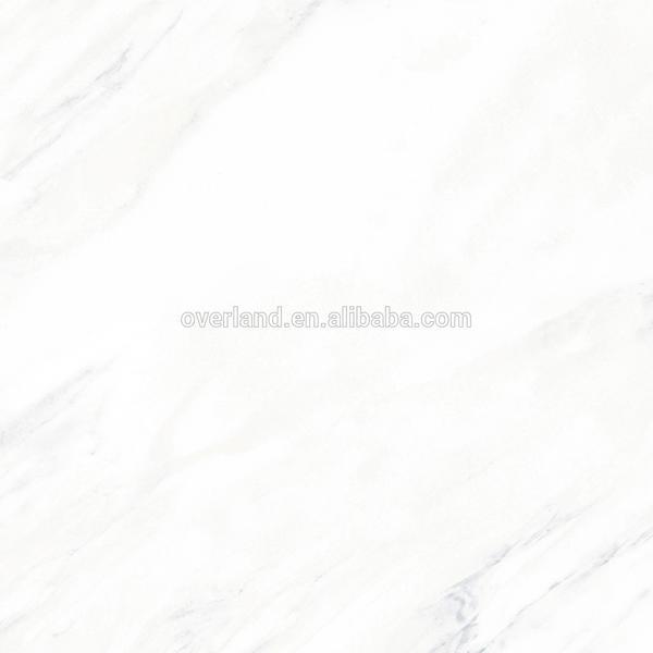 Glossy plain white floor tiles
