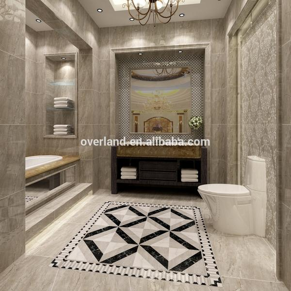 Water resistant ash bathroom ceramic tiles