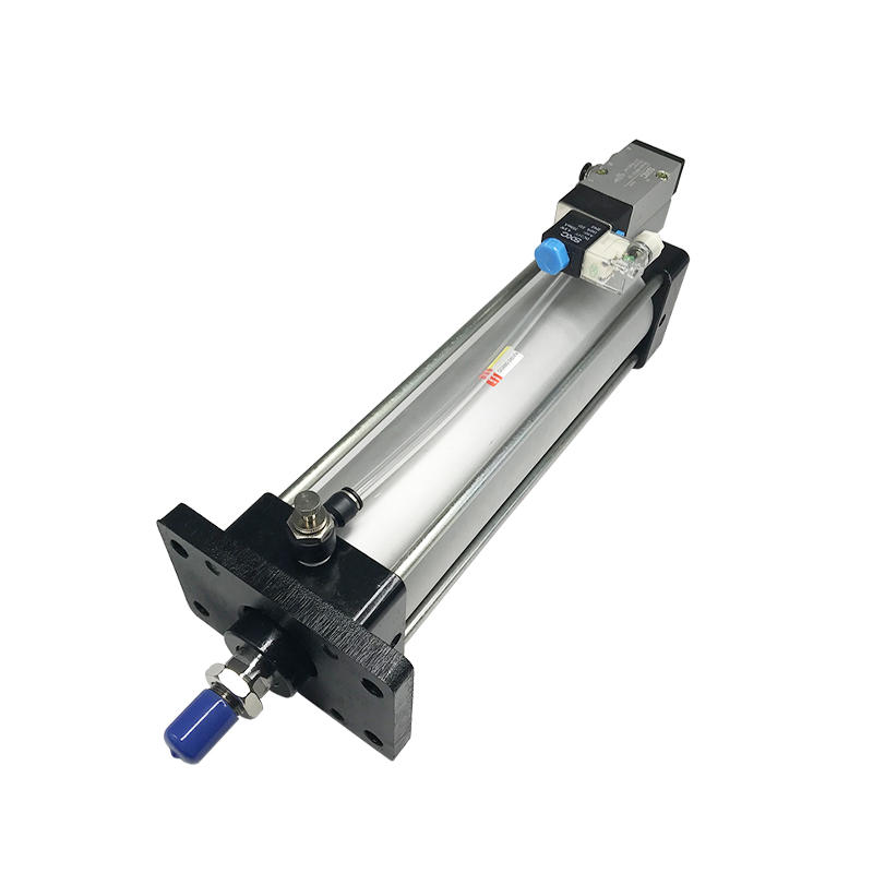Pneumatic Cylinder QGB80-240-FA With Solenoid Valve Buffer Device Aluminium Alloy Air Cylinder