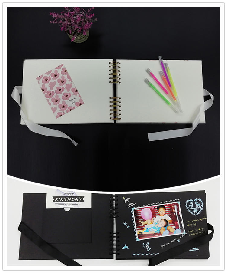 product-Dezheng-Guangzhou photo album manufacturer spiral bound DIY marble leather photo album for 5-1