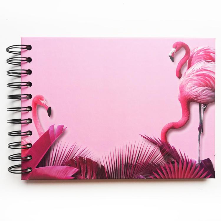 product-Dezheng-Mini size self adhesive DIY photo album Coil spiral binding album custom flamingo-im-4