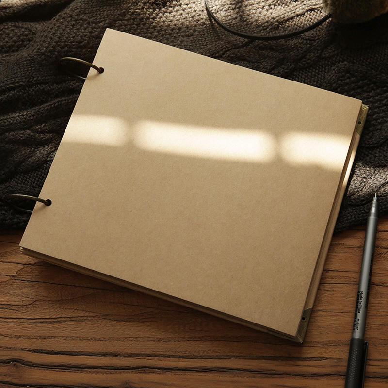 product-Custom High Quality Kraft Cover DIY Cardstock Scrapbook Photo Album-Dezheng-img-2
