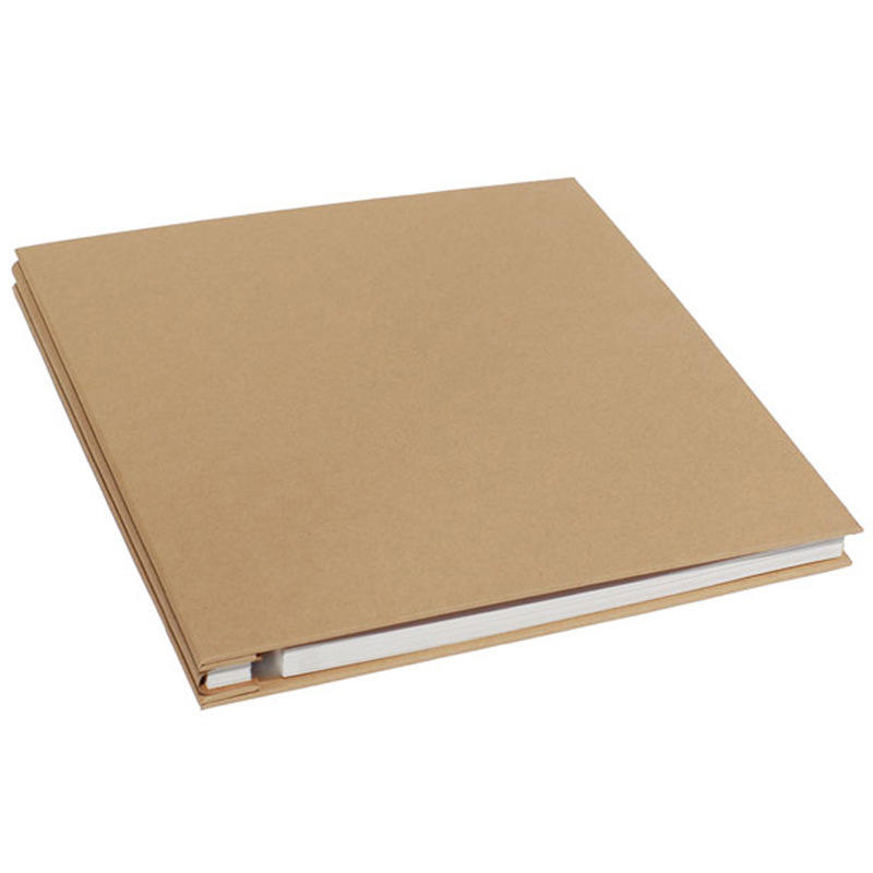 100% recycled kraft paper cover Self adhesive photo album custom family personalized printing photo album scrapbook