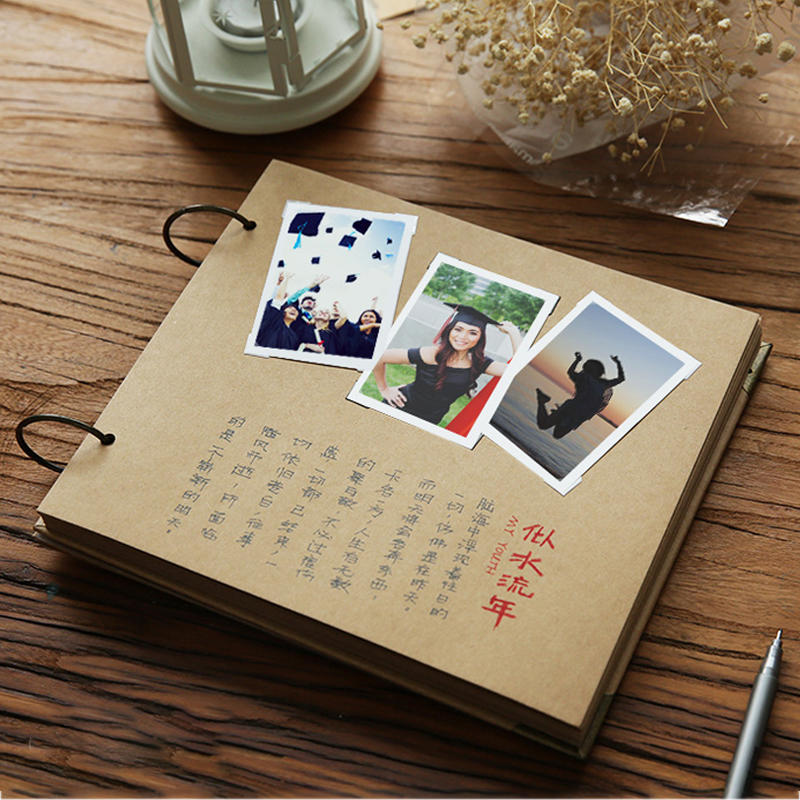 product-Dezheng-Custom High Quality Kraft Cover DIY Cardstock Scrapbook Photo Album-img-1