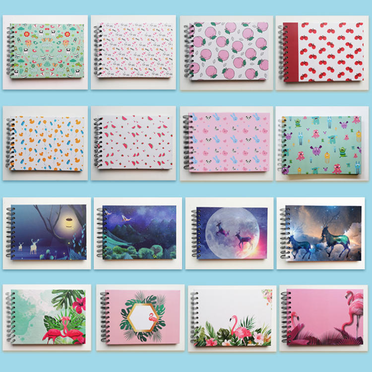 product-Dezheng-Custom Wholesale Spiral Hardcover Mini Photo Album Baby Scrapbook Kit DIY Self Adhes-1