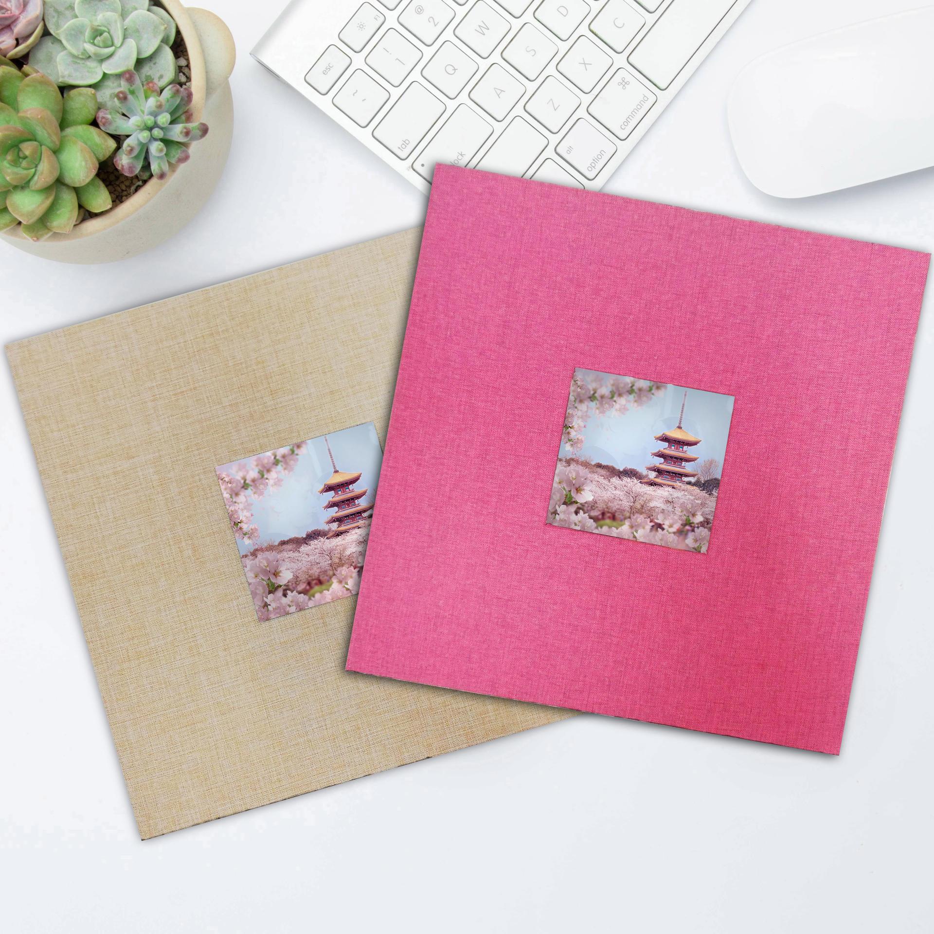 product-Dezheng-Custom Hardcover Window Scrapbook Self-adhesive Baby Photo Album Spiral Creative DIY-1