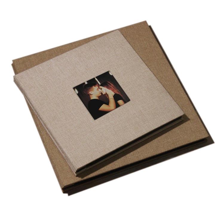 Custom Hardcover Window Scrapbook Self-adhesive Baby Photo Album Spiral Creative DIY Blank Photo Album 4x6 Wedding Scrapbook
