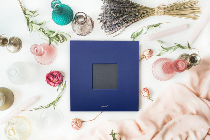 product-Dezheng-Custom logo big inner page linen pu leather self adhesive photo album for wedding bi-1