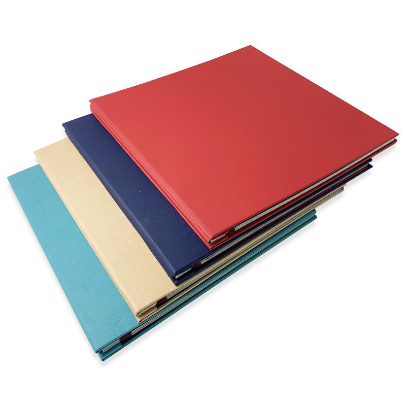 product-Custom Big size colorful pu leather wedding theme self adhesive photo album scrapbook-Dezhen-1