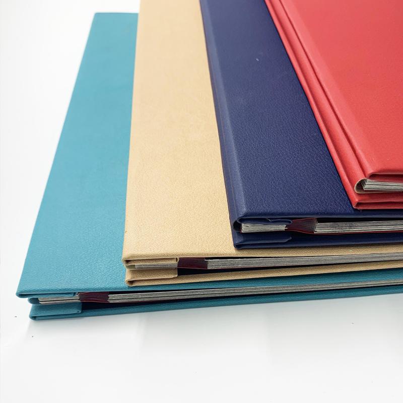 product-Custom self adhesive Colorful PU leather cover scrapbook photo album-Dezheng-img-1