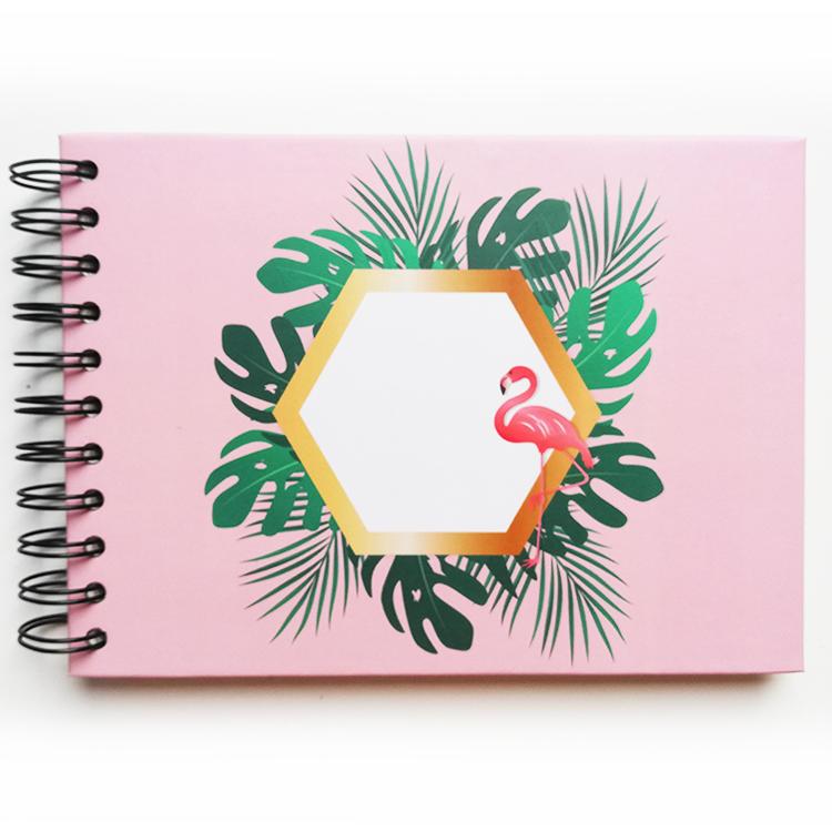 product-Mini size self adhesive DIY photo album Coil spiral binding album custom flamingo-Dezheng-im-4