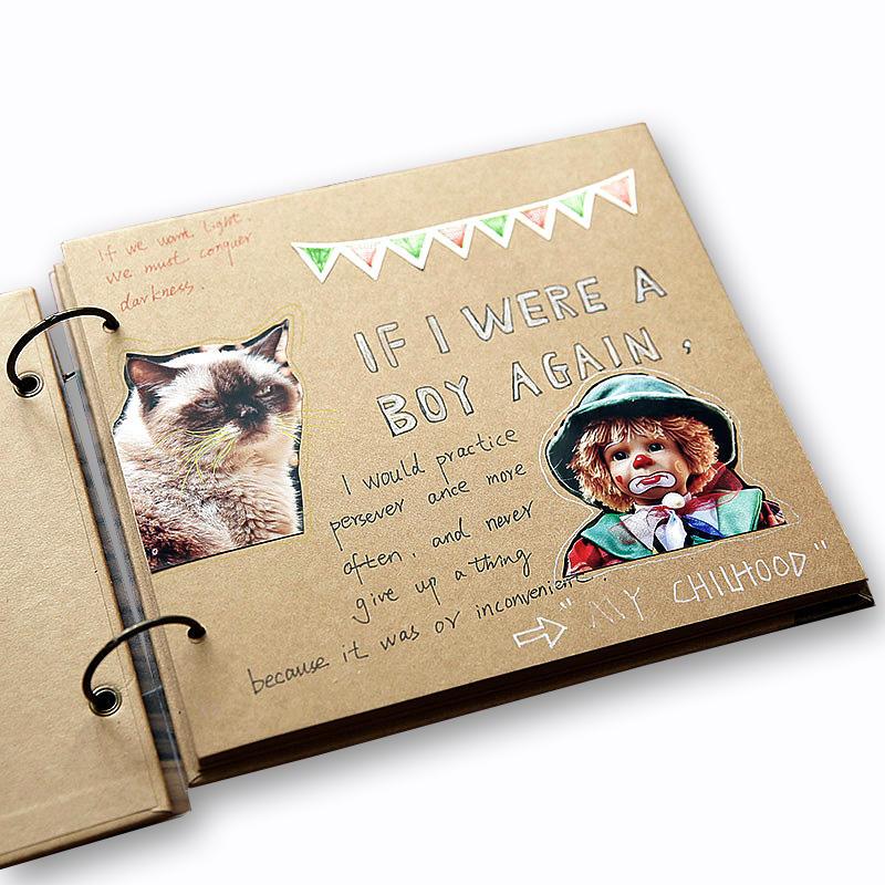 product-Custom High Quality Kraft Cover DIY Cardstock Scrapbook Photo Album-Dezheng-img-1