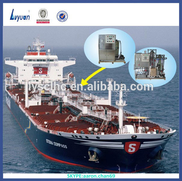 Low cost seawater desalination plant for boat on sailing