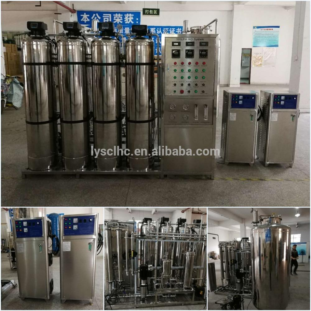 big capacity borehole salty water treatment system with ro filter for resort