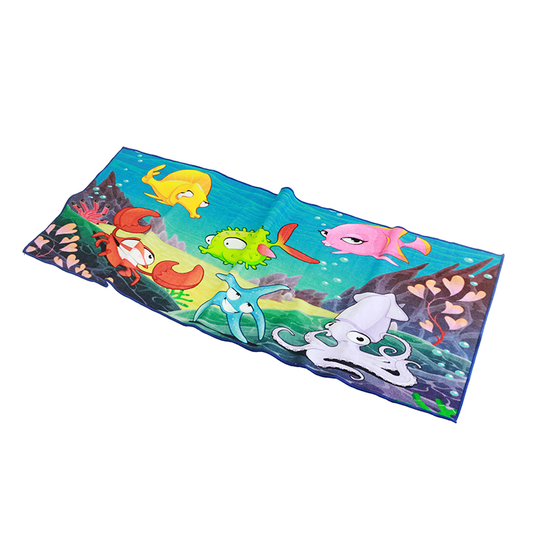 pure cotton custom digital printing bath towel cartoon Chinese manufacturer