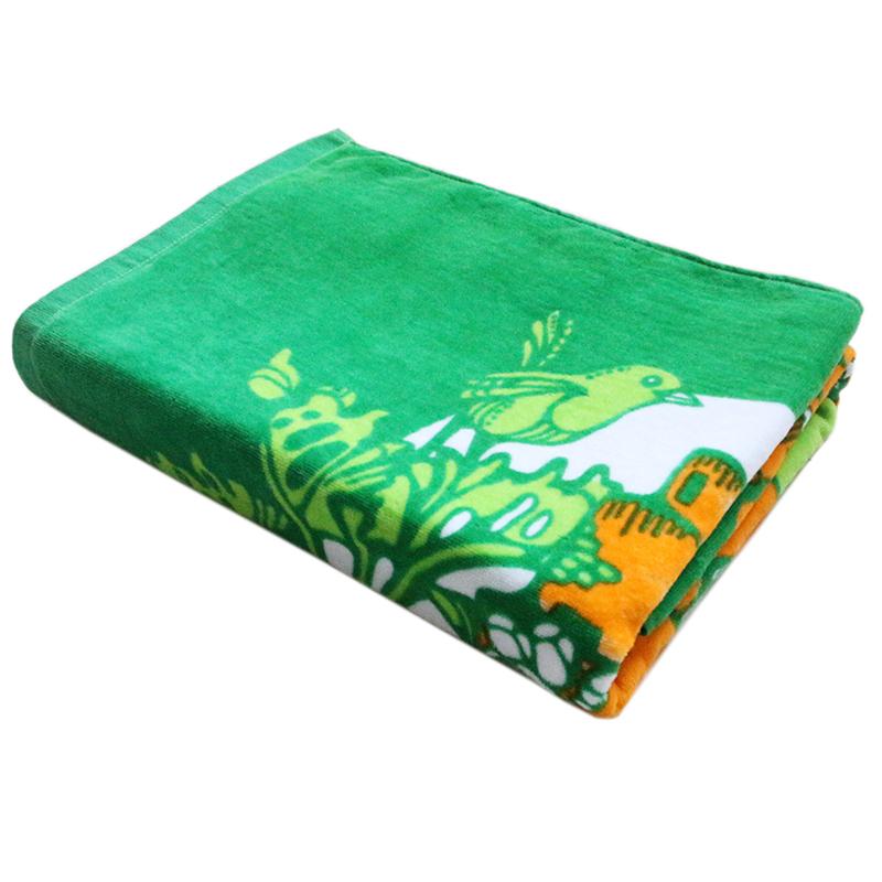 100% cotton reactivie printing bath towel can be customized logo design bath towel